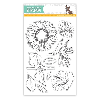 Simon Says Clear Stamps SUMMER FLOWERS SSS101726 Cherished