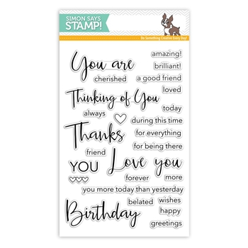 Simon Says Clear Stamps THOUGHTFUL MESSAGES SSS101740 Cherished