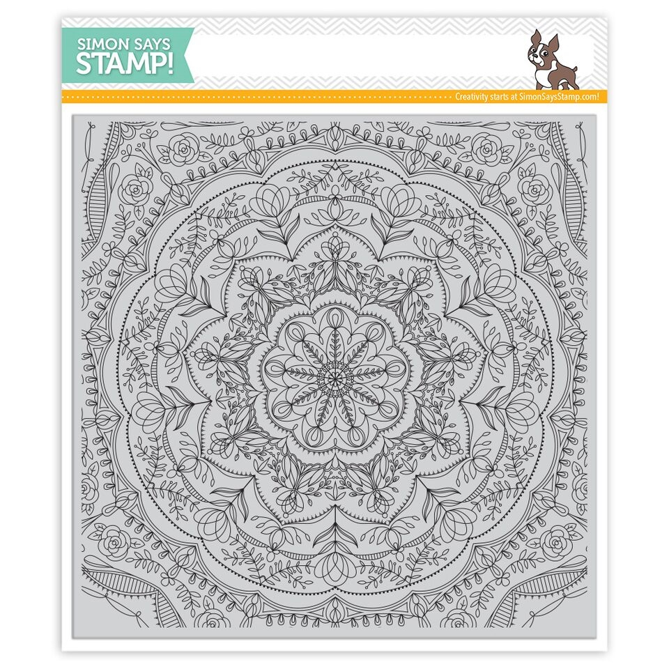 Simon Says Cling Rubber Stamp REBECCA LACE BACKGROUND