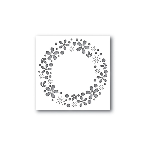 Simon Says Stamp FLORAL SPARKLE WREATH Wafer Dies S438 Cherished Preview Image