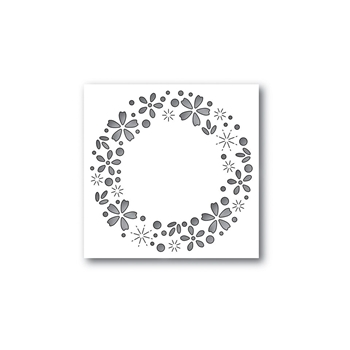 Simon Says Stamp FLORAL SPARKLE WREATH Wafer Dies S438 Cherished