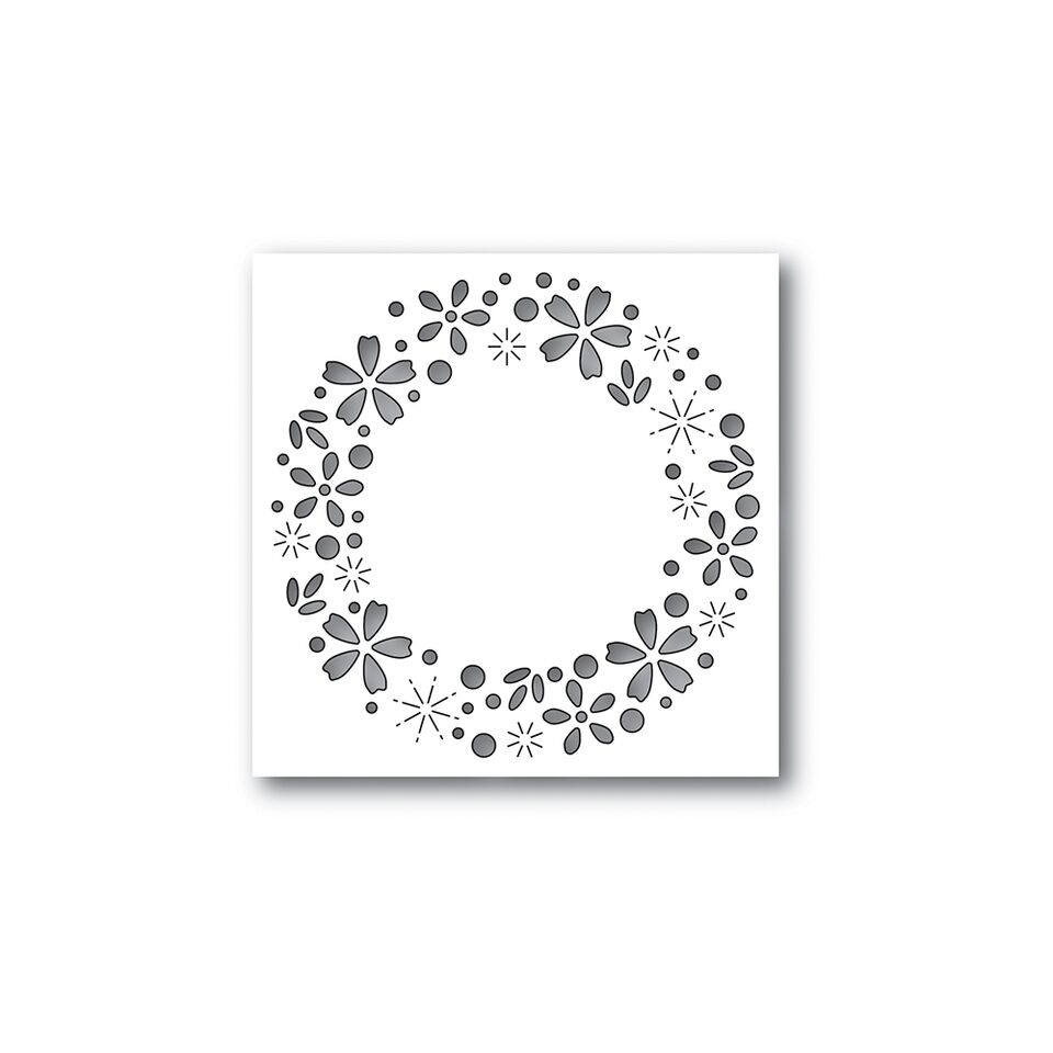 Simon Says Stamp FLORAL SPARKLE WREATH Wafer Dies