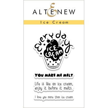 Altenew ICE CREAM Clear Stamp Set ALT1693