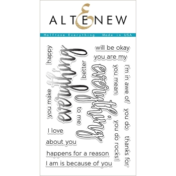 Altenew HALFTONE EVERYTHING Clear Stamp Set ALT1690