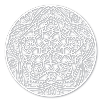Simon Says Stencils STAR MEDALLION SSST121396 Cherished