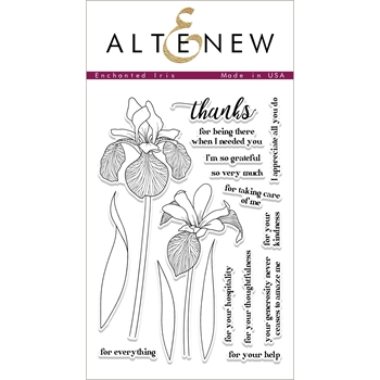 Altenew ENCHANTED IRIS Clear Stamp Set ALT1689