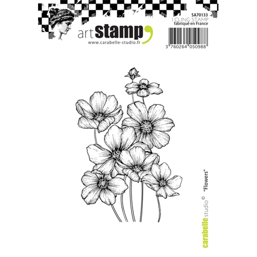 Carabelle Studio FLOWERS Cling Stamp SA70133 Preview Image