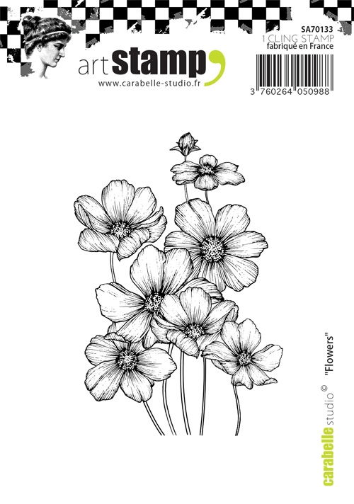 Carabelle Studio FLOWERS Cling Stamp SA70133 zoom image