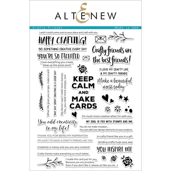 Altenew CRAFTY FRIENDS Clear Stamp Set ALT1688