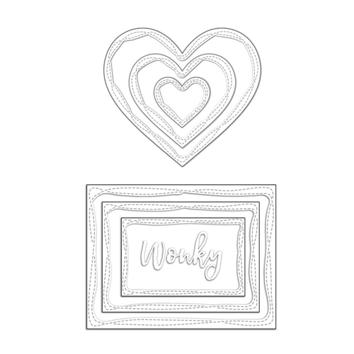 Simon Says Stamps and Dies WONKY SHAPES Set296WS Cherished Preview Image