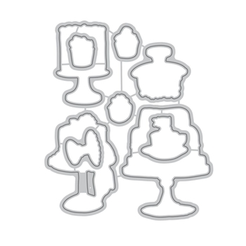 Altenew CAKE LOVE Die Set ALT1705