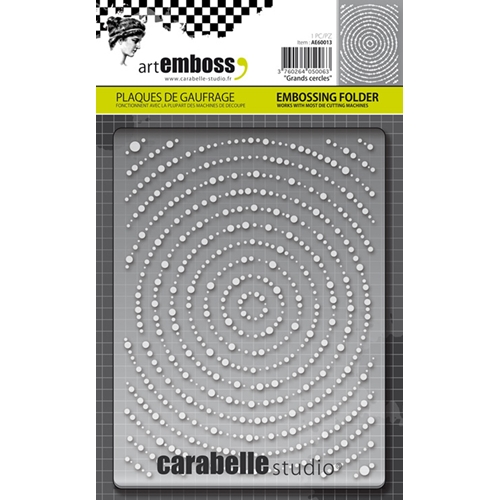 Carabelle Studio GRANDS CERCLES Embossing Folder AE60013 Preview Image