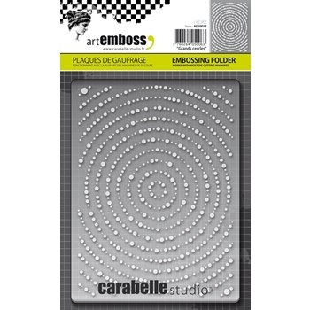 Carabelle Studio GRANDS CERCLES Embossing Folder AE60013