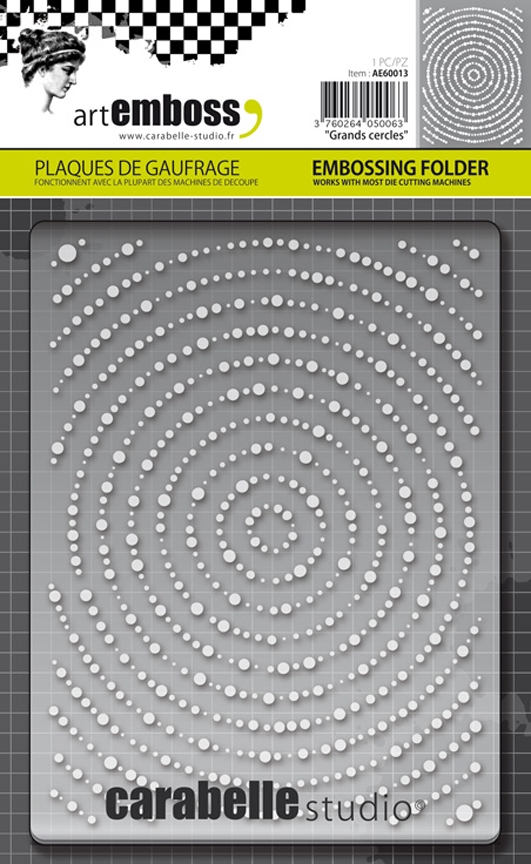 Carabelle Studio GRANDS CERCLES Embossing Folder AE60013 zoom image