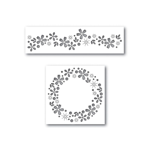 Simon Says Stamp Dies Set FLORAL SPARKLE Set297FP Cherished Preview Image