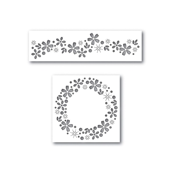 Simon Says Stamp Dies Set FLORAL SPARKLE Set297FP Cherished