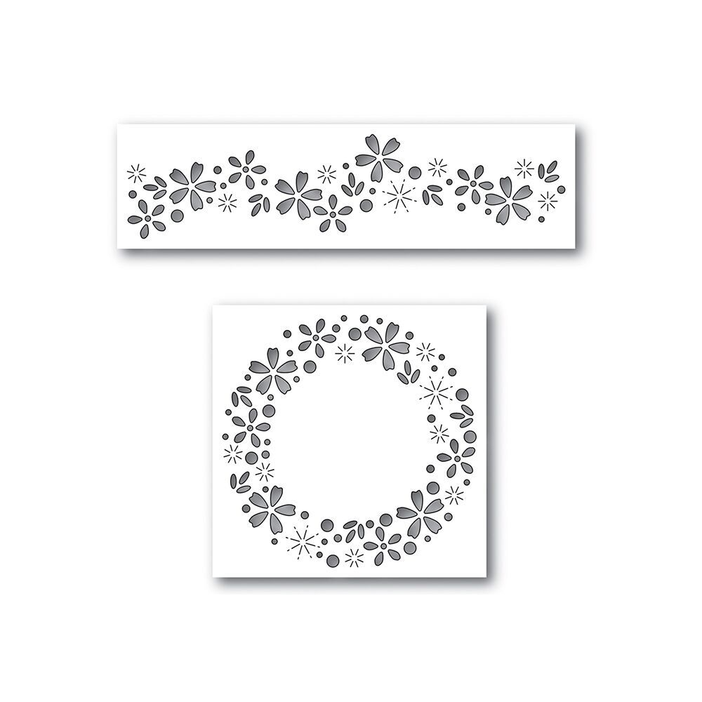 Simon Says Stamp Dies Set FLORAL SPARKLE