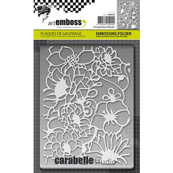 Carabelle Studio COMPOSITION FLORALE Embossing Folder AE60010