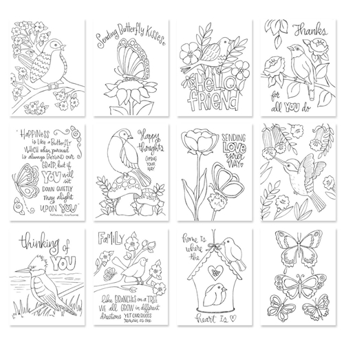 Suzy's Birds and Butterflies Prints Set