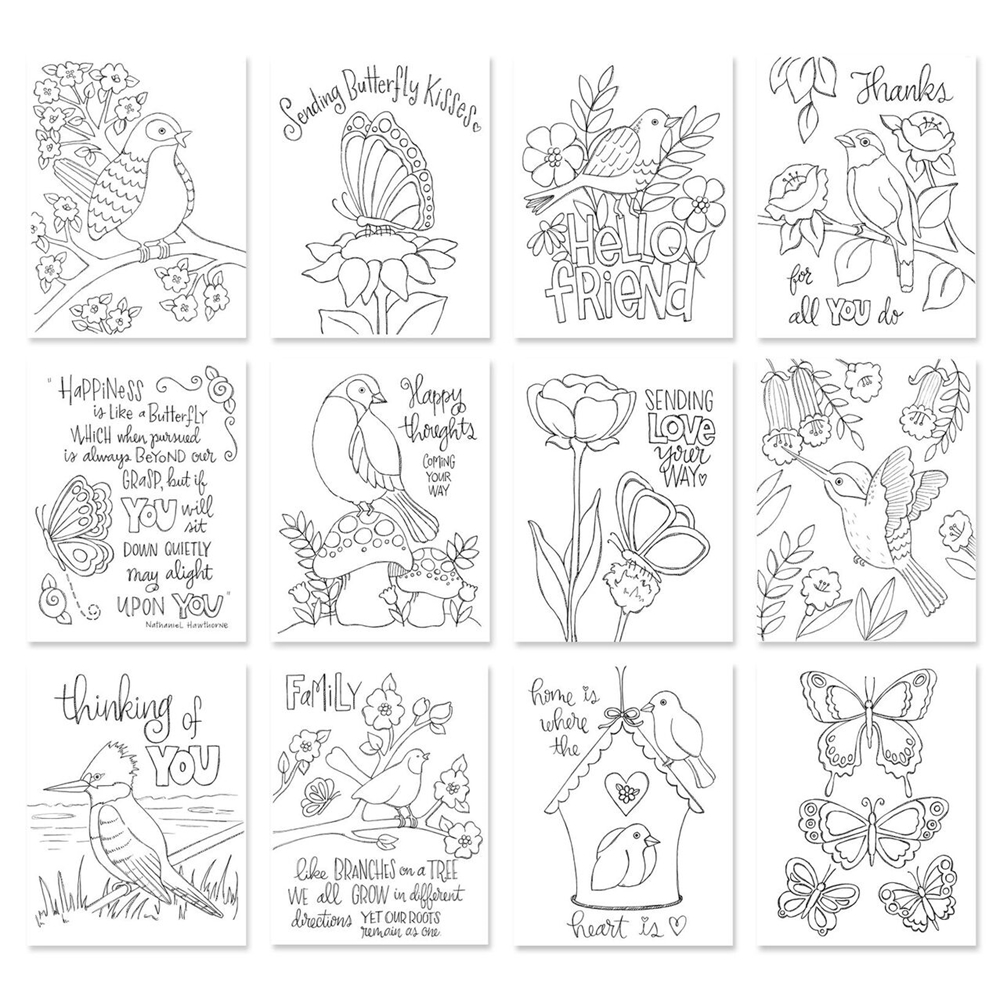Simon Says Stamp Suzy's BIRDS AND BUTTERFLIES Prints SZBAB17 Cherished zoom image