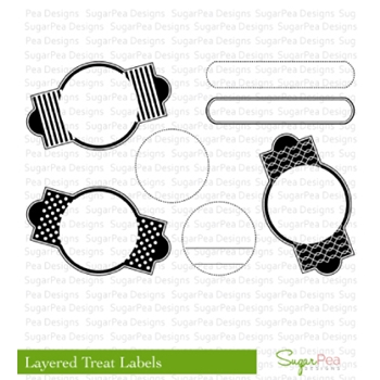 SugarPea Designs LAYERED TREAT LABELS Clear Stamp Set SPD-00063