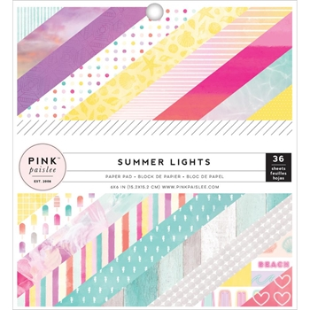 Pink Paislee SUMMER LIGHTS 6 x 6 Paper Pad 310266*