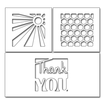 Penny Black THANK YOU SQUARES Thin Metal Creative Die 51-346