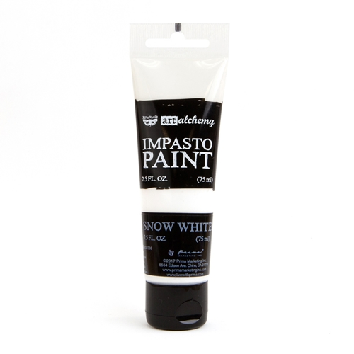 Prima Marketing SNOW WHITE Finnabair Art Alchemy Impasto Paint 964511 Preview Image
