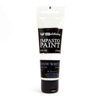 Prima Marketing SNOW WHITE Finnabair Art Alchemy Impasto Paint 964511