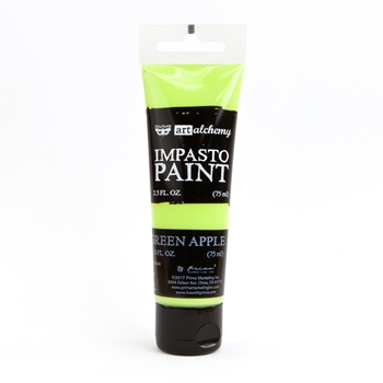 Prima Marketing GREEN APPLE Finnabair Art Alchemy Impasto Paint 964603