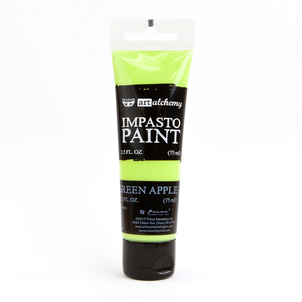 Prima Marketing GREEN APPLE Finnabair Art Alchemy Impasto Paint 964603 zoom image