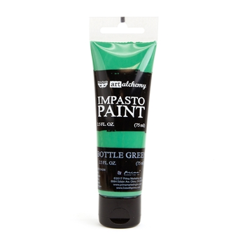 Prima Marketing BOTTLE GREEN Finnabair Art Alchemy Impasto Paint 964610