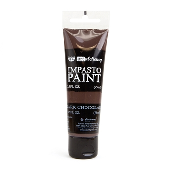 Prima Marketing DARK CHOCOLATE Finnabair Art Alchemy Impasto Paint 964658
