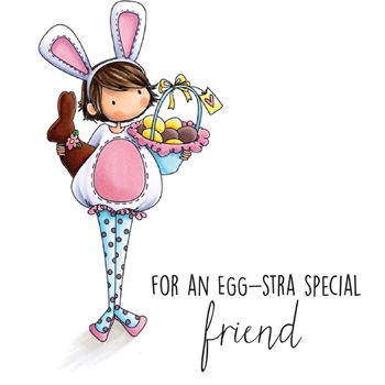 Stamping Bella Cling Stamp TINIE TOWNIE ELLA LOVES EASTER Rubber UM EB503