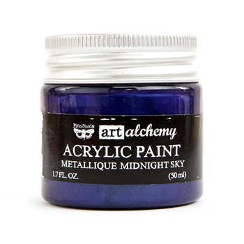 Prima Marketing METALLIQUE MIDNIGHT SKY Art Alchemy Acrylic Paint 964450