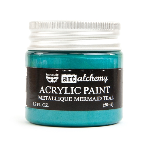 Prima Marketing METALLIQUE MERMAID TEAL Art Alchemy Acrylic Paint 964467 Preview Image