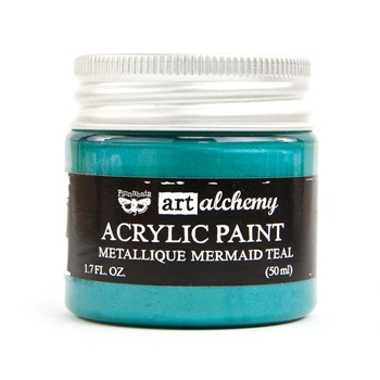 Prima Marketing METALLIQUE MERMAID TEAL Art Alchemy Acrylic Paint 964467