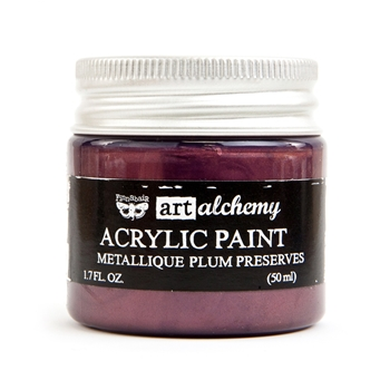 Prima Marketing METALLIQUE PLUM PRESERVES Art Alchemy Acrylic Paint 964498