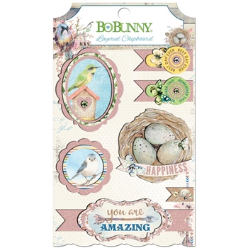 BoBunny SERENDIPITY Layered Chipboard 21709066
