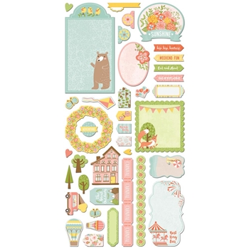 BoBunny WEEKEND ADVENTURES Die Cuts Noteworthy 21813070