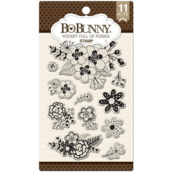 BoBunny POCKET FULL OF POSIES Clear Stamps 12105078