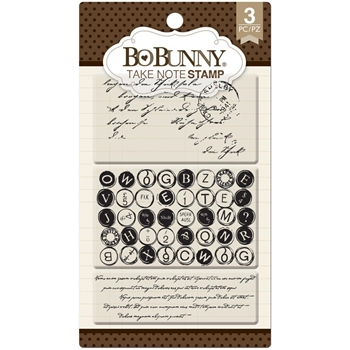 BoBunny TAKE NOTE Clear Stamps 12105079