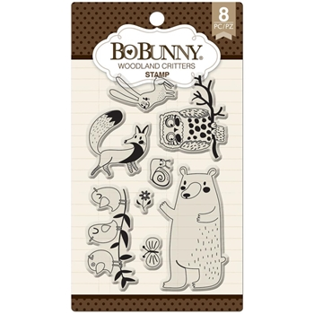 BoBunny WOODLAND CREATURES Clear Stamps 12105080