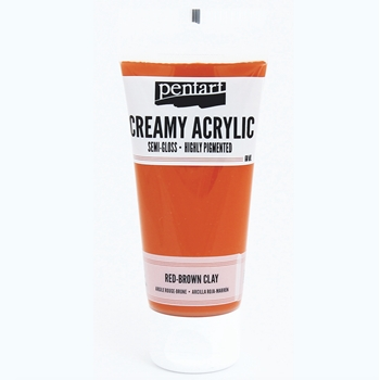 Pentart RED BROWN CLAY Creamy Semi-Gloss Acrylic Paint 27926