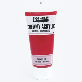 Pentart CARMINE RED Creamy Semi-Gloss Acrylic Paint 27944