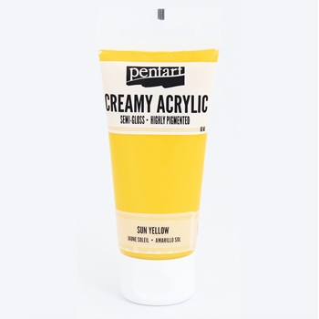 Pentart SUN YELLOW Creamy Semi-Gloss Acrylic Paint 27923