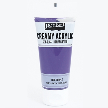 Pentart DARK PURPLE Creamy Semi-Gloss Acrylic Paint 27940