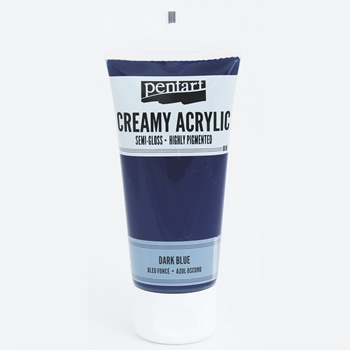 Pentart DARK BLUE Creamy Semi-Gloss Acrylic Paint 27937