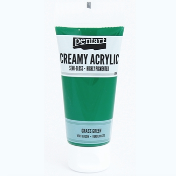 Pentart GRASS GREEN Creamy Semi-Gloss Acrylic Paint 27933