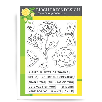 Birch Press Design DRAGONFLY GREETINGS Clear Stamps CL8121